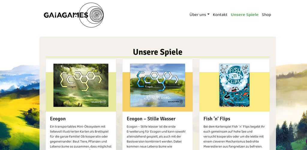 Gaiagames Kollektiv - Webseite